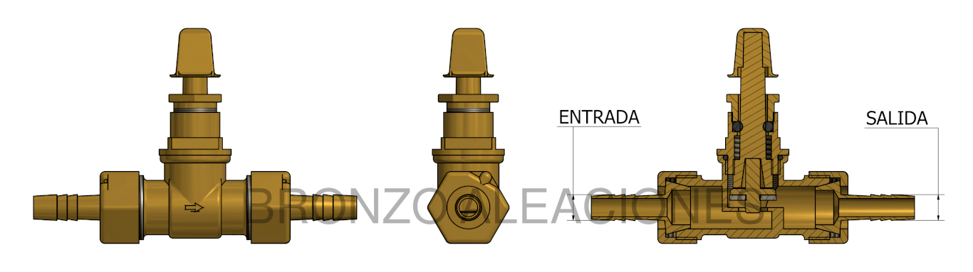 Esquema WITH BRASS HOSE BARBS