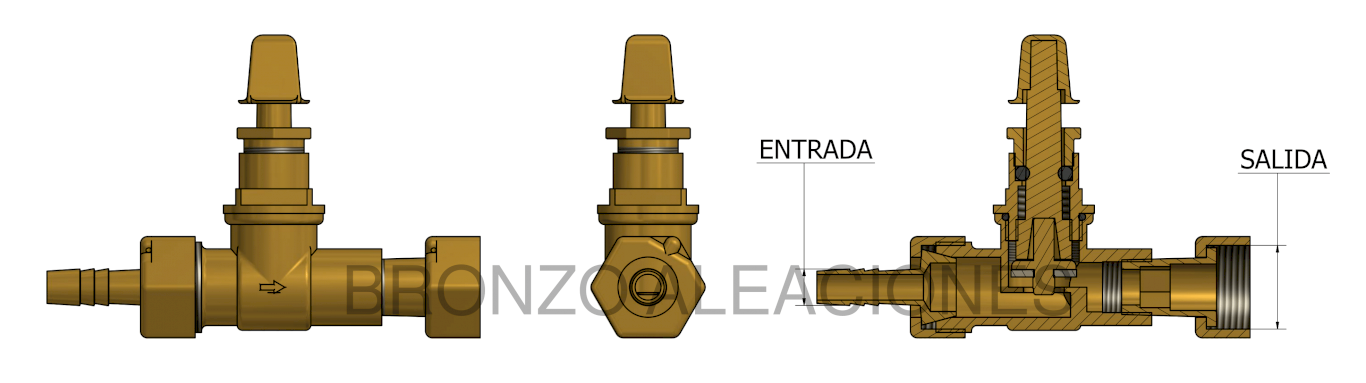 Esquema WITH HOSE BARB AND FREE NUT