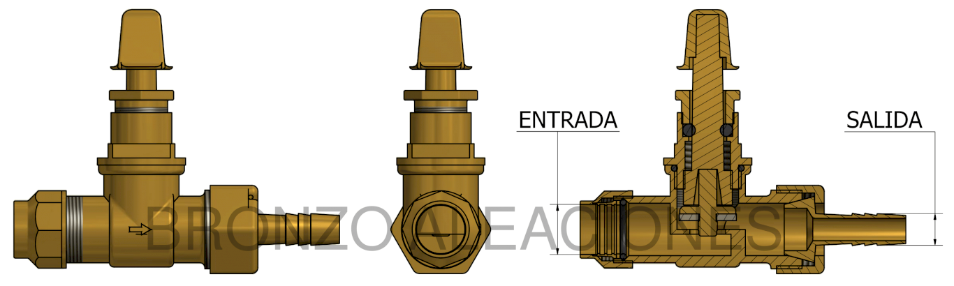 Esquema WITH COMPRESSION COUPLER AND HOSE BARB