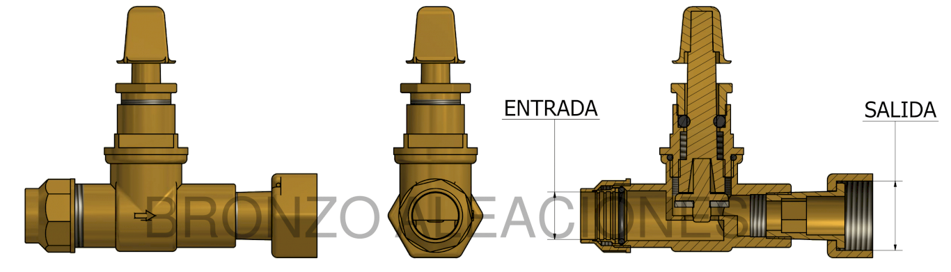 Esquema WITH COMPRESSION COUPLER AND FREE NUT